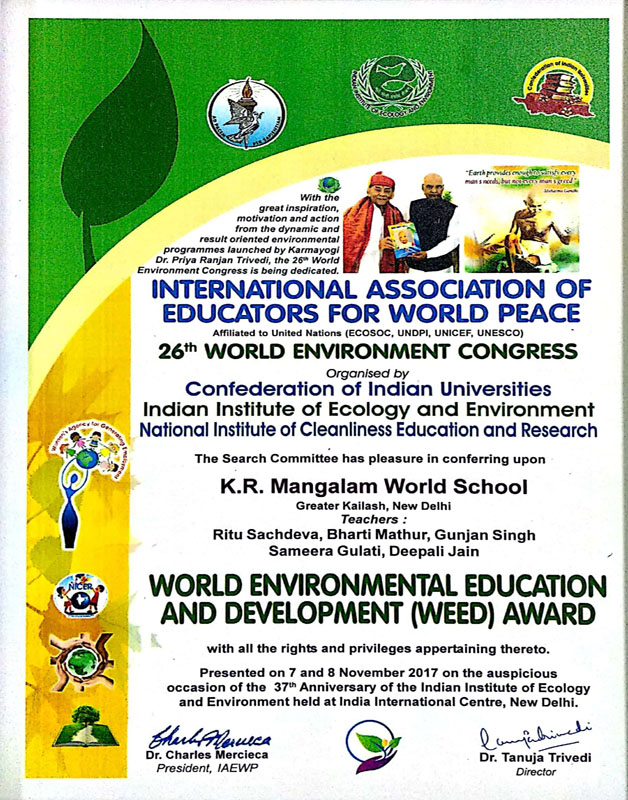Word-Wnvironmental-Education-and-Development-(Weed)-Award