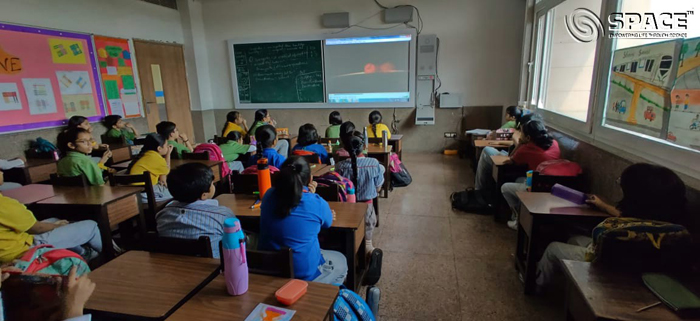 Students of Class III watched COSMOS Video